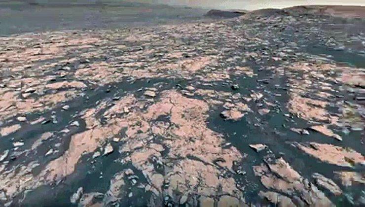 Mars'tan ilk video yayınlandı