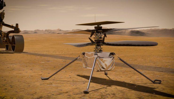 NASA'nın Mars'taki helikopterinden ilk mesaj geldi