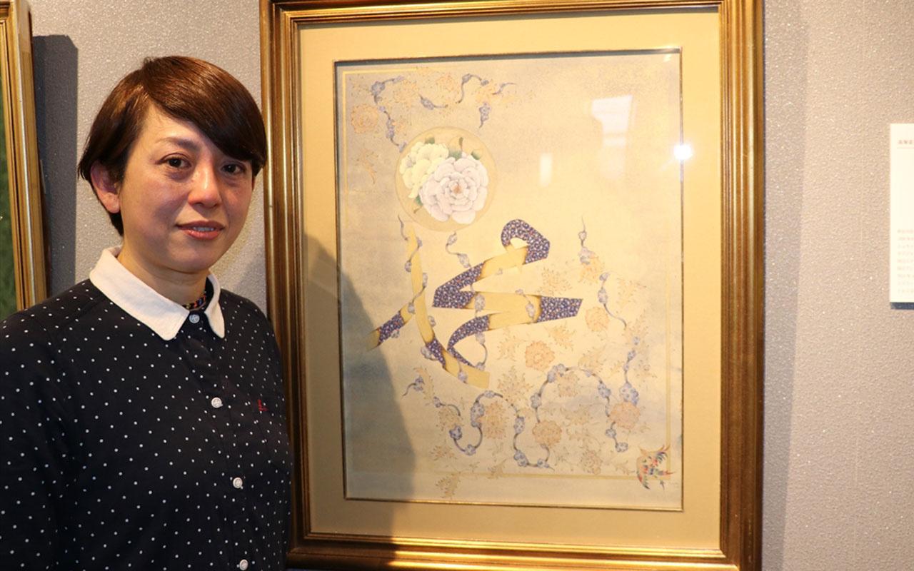 Türk motiflerini Japon tarzıyla birleştiren sanatçı Fumiko Takahori