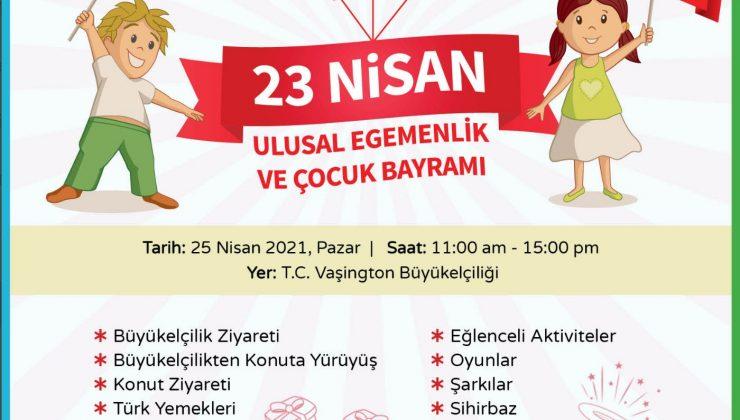 Türkiye'nin Vaşington Büyükelçiliği'nden 23 Nisan duyurusu