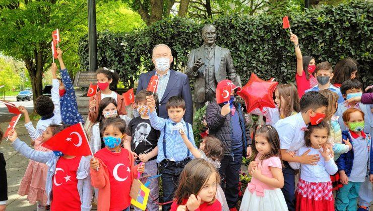 Türkiye'nin Vaşhington Büyükelçiliği'nde 23 Nisan coşkusu