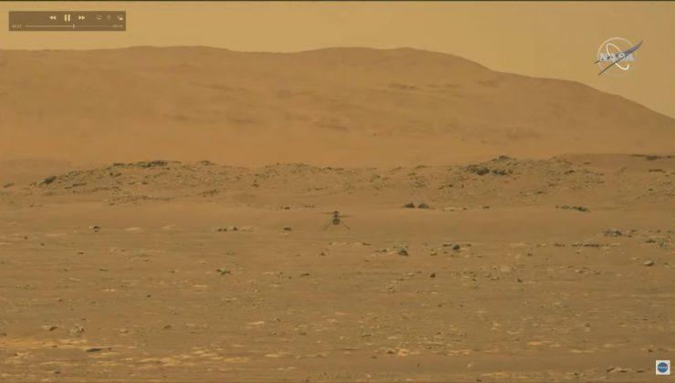 NASA'nın Mars'taki helikopteri 'Ingenuity' ilk uçuşunu yaptı