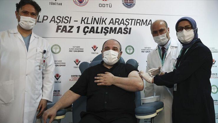 Bakan Varank'a 2. doz yerli aşı