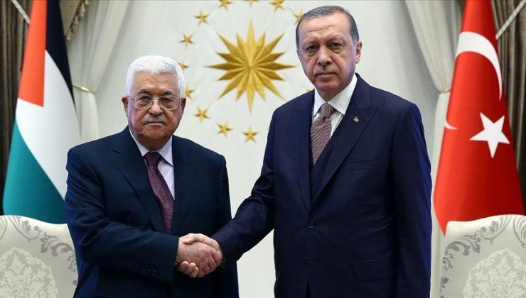 Erdoğan, Mahmud Abbas ve İsmail Heniyye ile görüştü