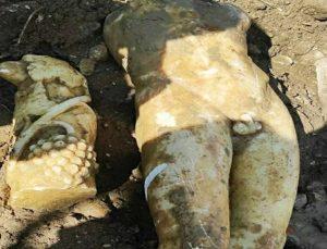Kanalizasyon kazısında bulundu: Apollon olduğu düşünülüyor