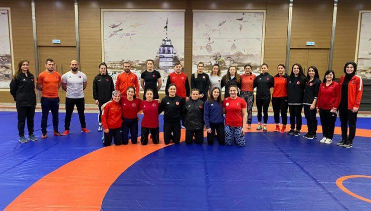 Kadın Güreş Milli Takımı, Tokyo 2020 hazırlıkları için Bolu'da kampa girdi