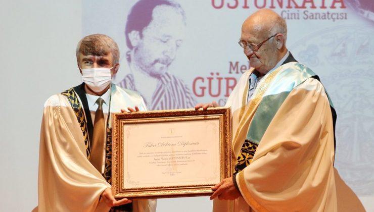 """UNESCO ödüllü çini sanatçıları Üstünkaya ve Gürsoy'a """"Fahri Doktora Diploması"""""""
