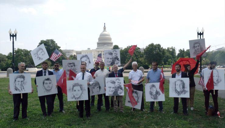 ABD'de yaşayan Türkler FETÖ terör örgütünü protesto etti