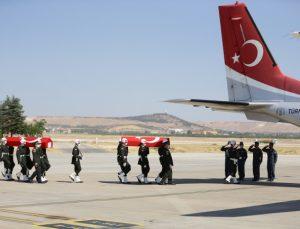 Şehit iki askerin cenazesi memleketlerine gönderildi