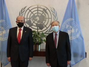 Guterres, KKTC Cumhurbaşkanı Tatar ile görüştü