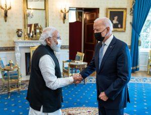 ABD Başkanı Biden, Hindistan Başbakanı Modi'yi Beyaz Saray'da ağırladı