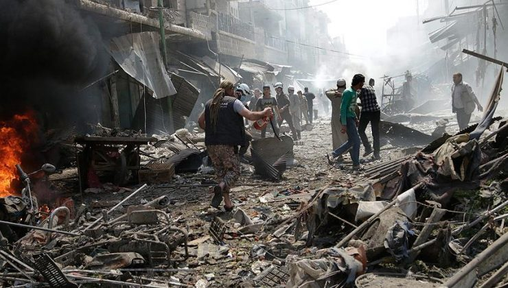 Esed rejimi İdlib'de pazar yerine saldırdı: 10 ölü 35 yaralı