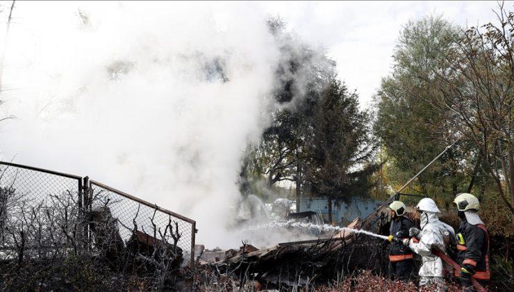 MTA'daki yangın söndürüldü can kaybı ve yaralanma yok