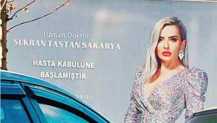 Doktordan film afişi gibi billboard ilanı