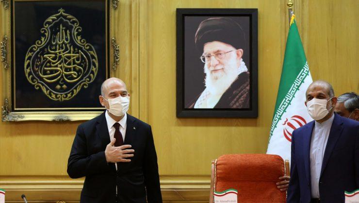 İçişleri Bakanı Soylu, İran'da mevkidaşı Vahidi ile görüştü